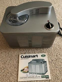 Cuisinart ICE-50BCWS Supreme Ice Cream Maker Machine Commercial Stainless Steel