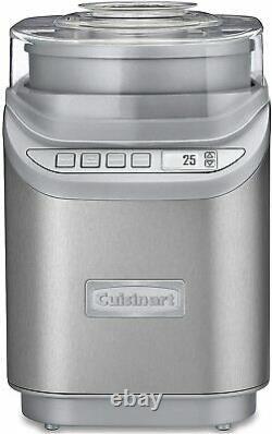 Cuisinart ICE-70 Electronic Ice Cream Maker, Brushed Chrome, Brand New