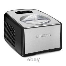 Cuisinart ICE100 Compressor Ice Cream and Gelato Maker with 3 Scoop Bundle