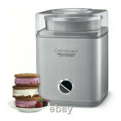 Cuisinart Pure Indulgence 2 Qt Frozen Yogurt Sorbet and Ice Cream Maker Bundle