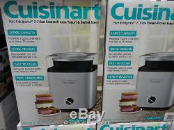 Cuisinart Pure Indulgence 2 quart Automatic Home Ice Cream Yogurt Sorbet Maker
