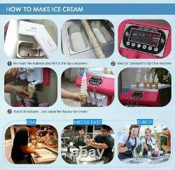 Desktop 2+1 mixed soft serve ice cream machine, gelato ice cream maker