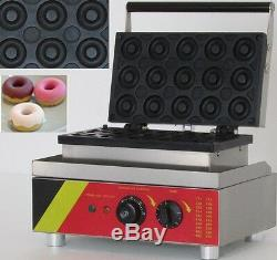 Donut Machine Maker Waffle Electric 15 Pieces Commercial Coffee Shop IceCream