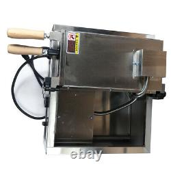 Electric 3x Fish Waffle Ice Cream Taiyaki Maker Baker 2KW Nonstick Commercial