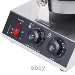 Electric Commercial 110v Nonstick Ice Cream Waffle Cone Baker Maker Machine