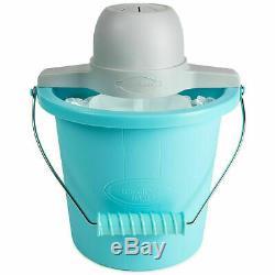 Electric Ice Cream Maker 4-Quart Bucket Freezer Home Made Frozen Yogurt Machine