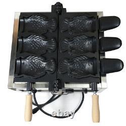 Electric Snapper Burning Machine 3x Fish Waffle Ice Cream Taiyaki Maker 110V 2kw
