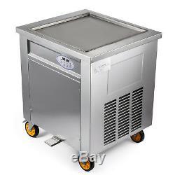 Fried Ice Cream Machine 50cm Square Pan Fruit Ice Cream Roll Maker 110V 1800W