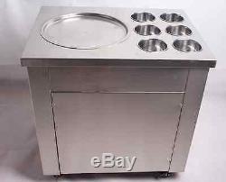 Fried Ice Cream machine Ice Cream Maker For Yogurt with 1 Pan Six Buckets 220V T