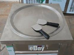 Fried Thai Ice Cream Single Pan Yogurt Machine Roll Maker Defrost 50cm ETL NSF