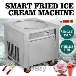 Fried Yogurt Rolled Ice Cream Machine Round Pan Easy Making