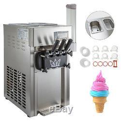 Frozen Soft Serve Ice Cream Maker Machine Mix Flavors 3 Head 18L/H 4.75Gal/H