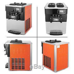 Frozen Soft Serve Ice Cream Maker Machine Mix Flavors 3 Head 20-28L/H