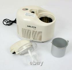 GELATO by Lello Model 4070 1 Quart ICE CREAM MAKER CLEAN WORKS PERFECTLY