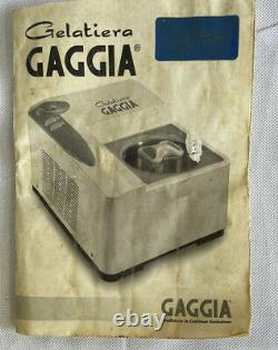 Gaggia Gelatiera Automatic Ice Cream Maker Mains Powered Made In Italy
