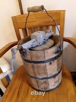 Genuine Antique ice cream churn butter maker unusual find
