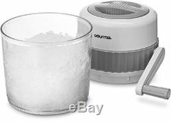 Gourmia GIC9635 Ice Crusher Manual Hand Crank Operated Stainless Steel Blade