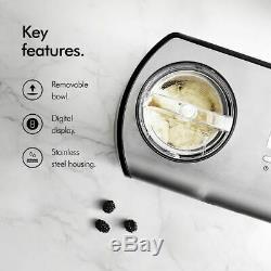 Home Ice Cream Maker Compressor Yogurt Machine 1.2L Cream Stainless Steel