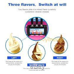 Hot Frozen Soft Serve Ice Cream Maker Machine Mix Flavors 3 Head 18L/H 4.75Gal/H