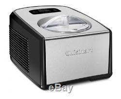ICE-100 Compressor Ice Cream and Gelato Maker Transparent Lid