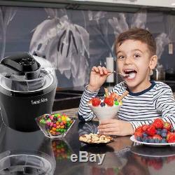 Ice Cream Maker 1.5 L Automatic Frozen Ice Cream Timer Fast Freeze Countertop