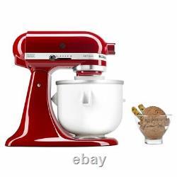 Ice Cream Maker Attachment For KitchenAid 5/4.5/3.5 Qt Quart stand mixer