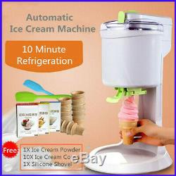 Ice Cream Maker Electric Machine Kids Home Soft Serve Ice DIY Beach Kitchen Auto