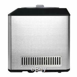 Ice Cream Maker Machine Stainless Steel Gelato Sorbet 2.1 Quart Upright LCD New