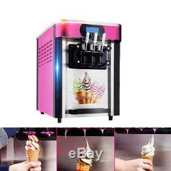 Ice Cream Making Machine 3 Flavors Desktop Automatic Drum Ice Cream Maker FDA