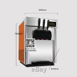 In US, stianless desktop commercial soft serve ice cream machine soft ice maker