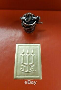 James Avery Very Rare Retired Sterling Silver Hand Crank Ice Cream Maker charm
