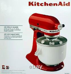 KitchenAid 5KICA0WH Speiseeismaschinen-Zubehör, Ice-Cream-Maker, Eisbereiter 1,9 L