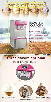 Kolice Commercial 2+1 mixed soft serve ice cream machine, gelato ice cream maker