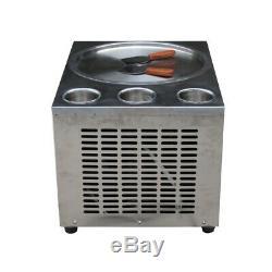 Kolice Countertop 45cm round pan with 3 tanks fried ice cream roll machine