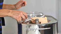 Lello 4080 Musso Lussino 1.5-Quart Ice Cream Maker, Stainless 110/120V 60 HZ