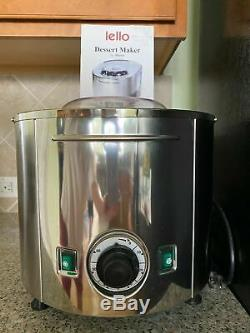 Lello 4080 Musso Lussino Stainless Ice-Cream Maker Excellent condition 1.5 Quart