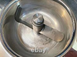 Lello Musso Self Contained Ice Cream Maker 1.5 Quart Capacity Stainless Steel