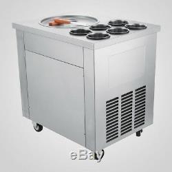 Local Fried Ice Cream Machine, Roll Ice Cream Maker withTemperature Control Panel