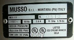 MUSSO LUSSINO 1.5 Quart Ice Cream Maker Model L1 Made In Italy