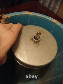 Maid Of Honor Vintage Blue Ice Cream Maker/freezer/wood Bucket /hand Crank Works