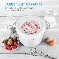 Maquina electrica para hacer helado yogurt sorbete de alimentos nieve procesador