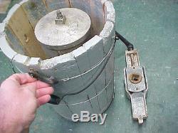 Most RARE Primitive wooden wood hand crank ice cream maker freezer on ebay 4 qt