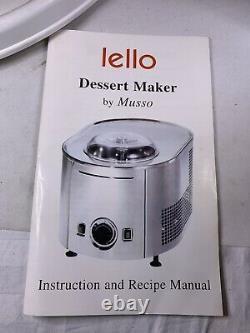 Musso Lello Model 4080 110/120V Stainless Steel 1.5qt Ice Cream Dessert Maker