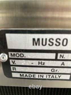 Musso Lello Ragusa 5060 6qt/16qt hourly Batch Ice Cream Maker with cosmetic damage