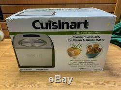NEW Cuisinart ICE-100 Compressor Ice Cream and Gelato Maker, Silver, 1-1/2-Quart