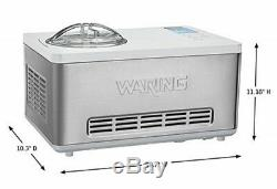 NEW Waring Commercial WCIC20 Electric 2 Quart Ice Cream Maker Machine