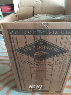 NIB Vintage White Mountain 69206 Electric Ice Cream Maker Freezer 6 Quart