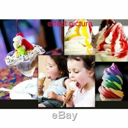 New! 1.2KW Frozen Soft Serve Ice Cream Maker Machine Mix Flavors 3 Head 18L/H