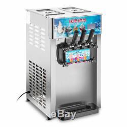 New 3 Flavors Commercial Soft Ice Cream Machine Ice Cream Cones Self Pick Up