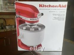 New Never Used KitchenAid 2-Quart 400W Ice Cream Mixer Attachment KICA0WH